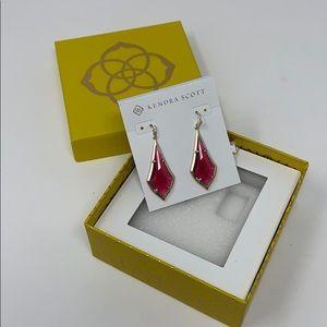 Kendra Scott Olivia Earrings Berry Glass NWT